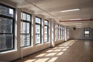 44 east 28th street natural light, row of windows