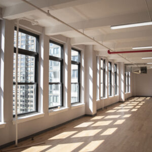 44 east 28th street natural light, row of windows