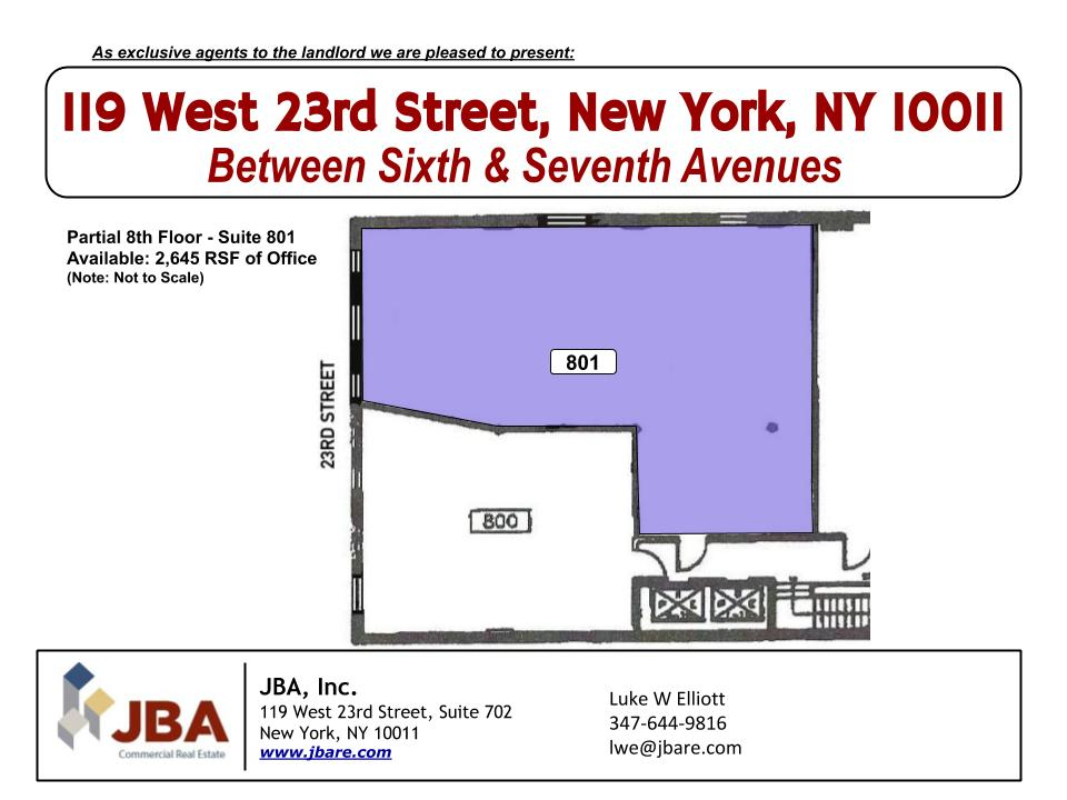 119 W 23rd St Part 8th Fl Suite 801 FP Updated