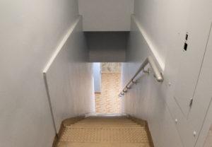 Dramatics 2nd avenue basement stairs