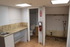 Dramatics 2nd avenue basement bathroom