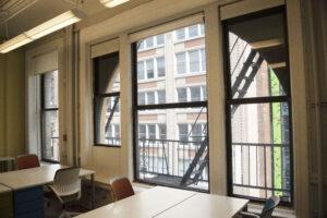 119 West 23rd street suite 610 window looking down on 23rd