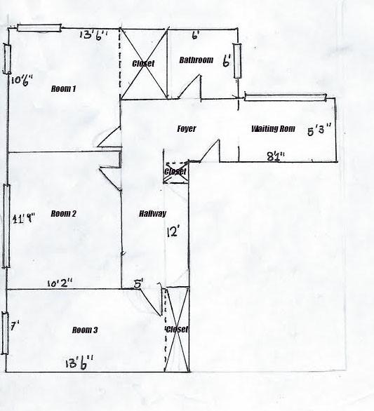 145 E 74th street 1C Floorplan labeled